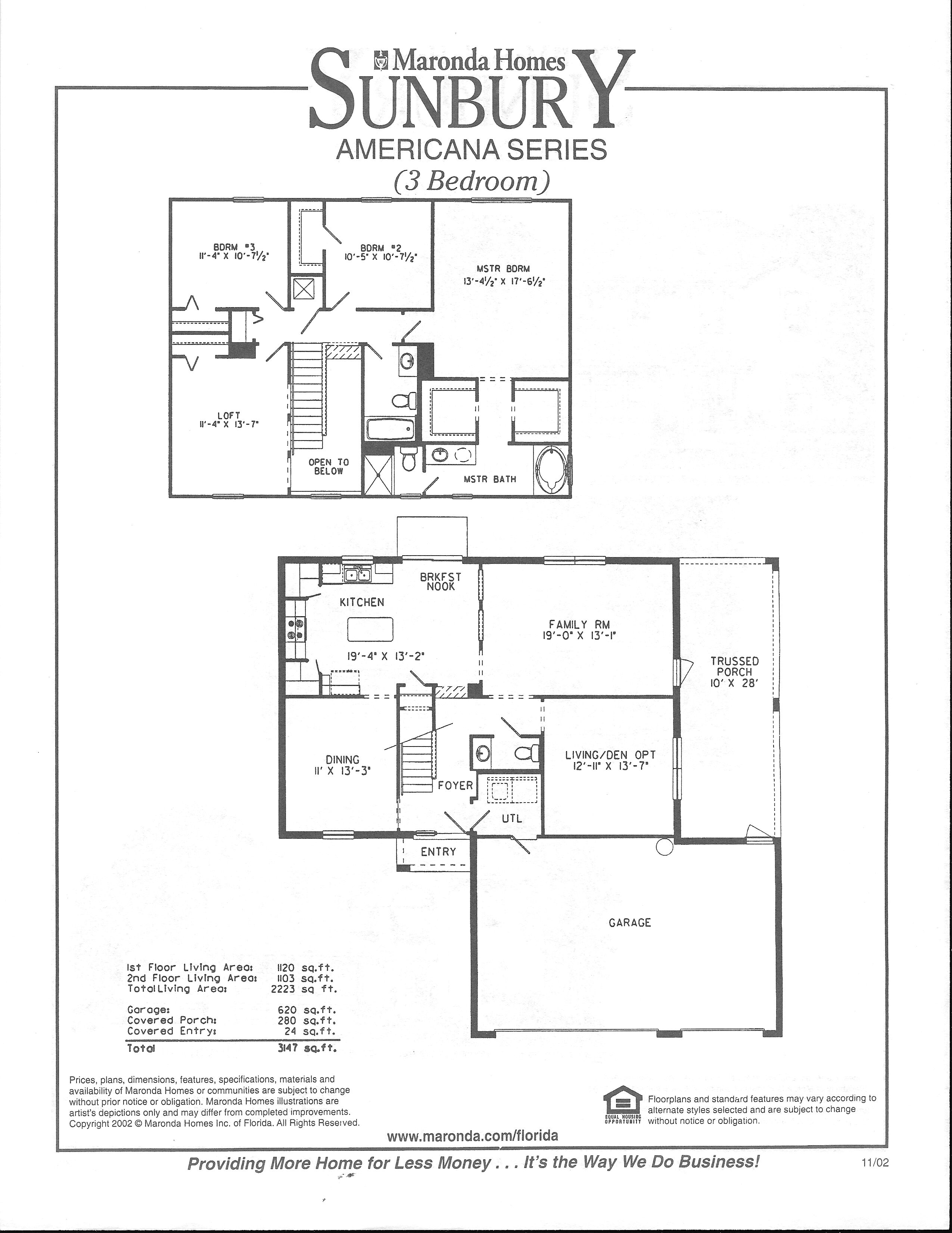 Maronda homes floor plans florida for Floor plans florida